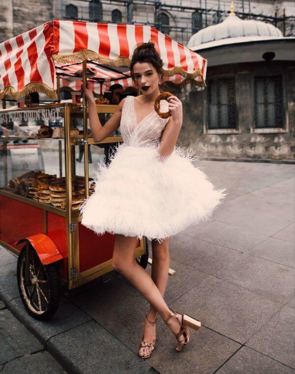 Короткое свадебное платье Alisia