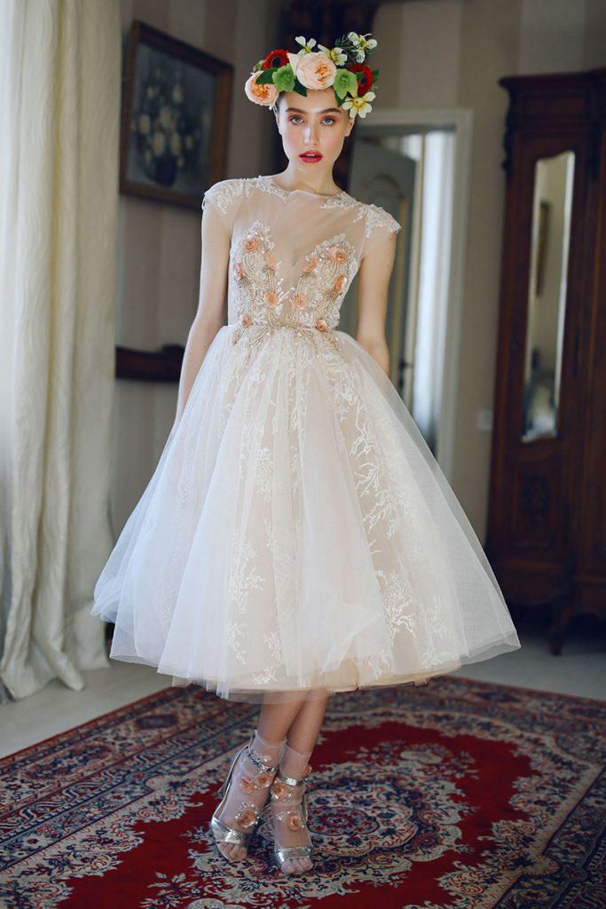 Короткое свадебное платье Fibi
