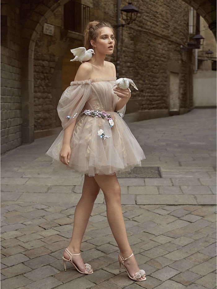 Короткое свадебное платье Levi