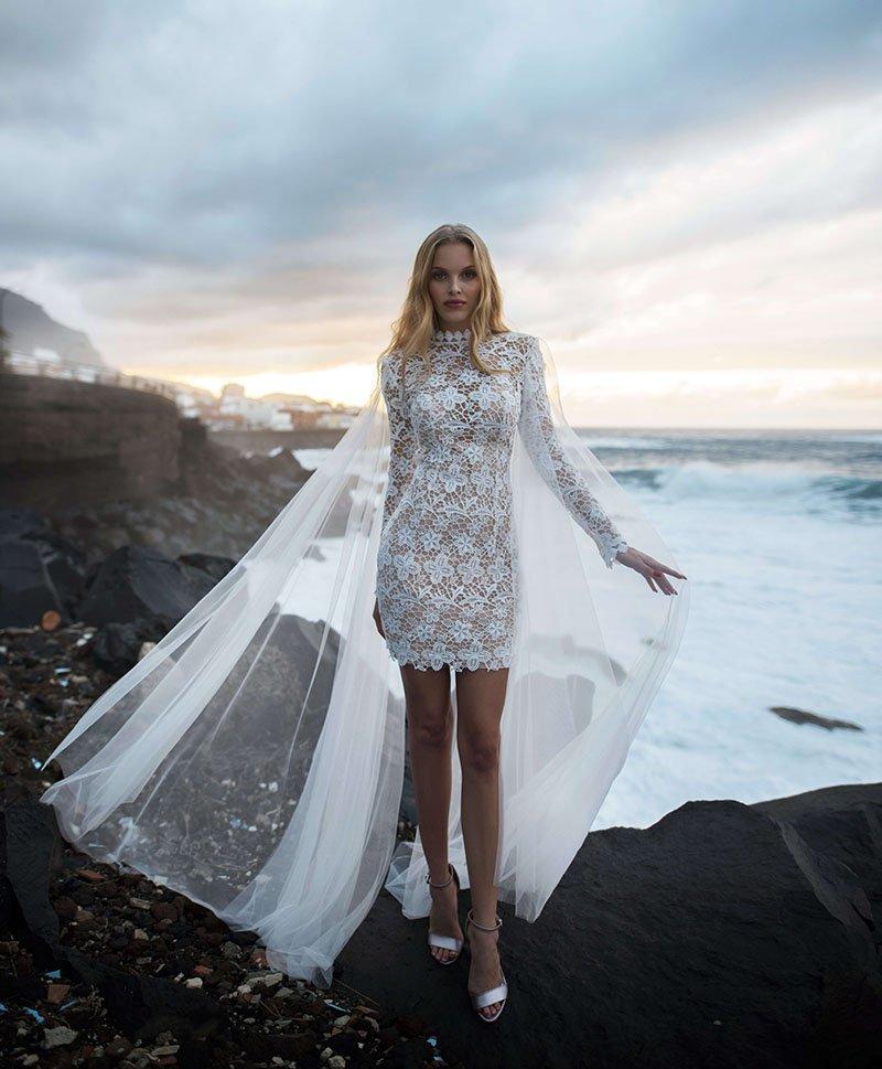 Короткое свадебное платье Rona