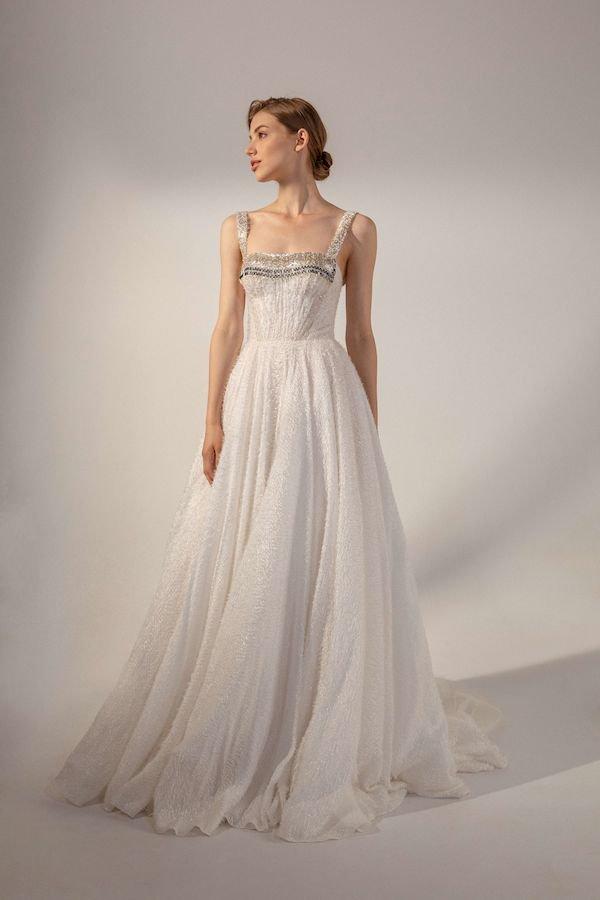 Свадебное платье в стиле рустик Iskra
